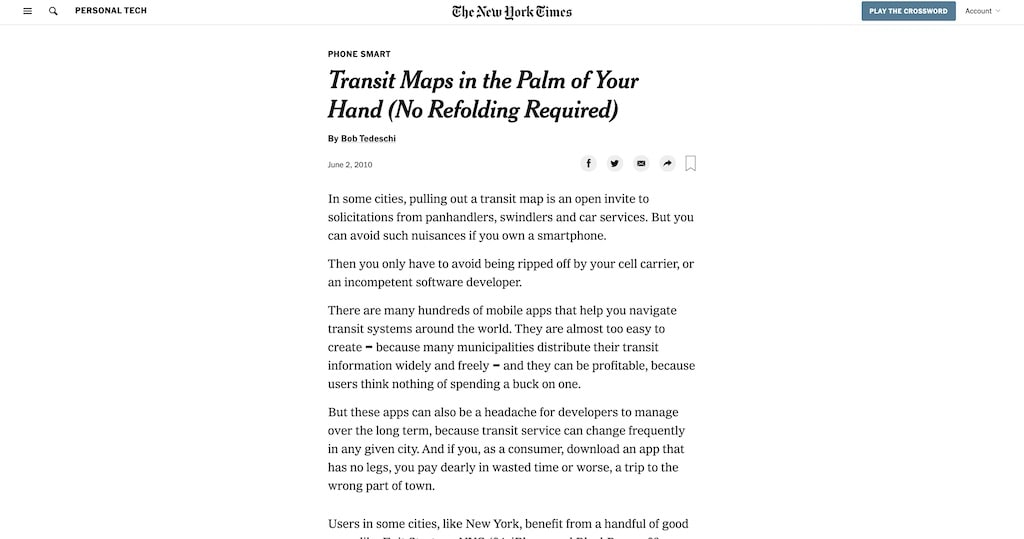 Anystop in New York Times